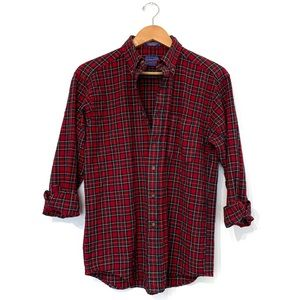 VTG Pendleton Plaid red button up shirt wool